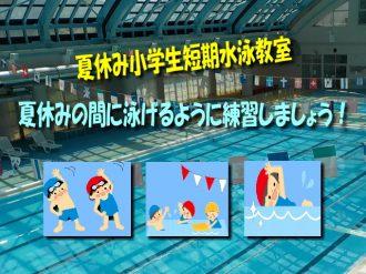 主催イベント:夏休み小学生短期水泳教室(期間訂正)の画像